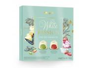 WHITE PASSION 200g pralinky v bílé čok. s pistác. a jahod. náplní