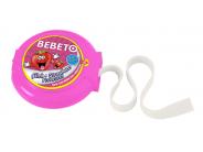 Bebeto Roll 40g Jahoda žvýkačka s tetováním dlouhá 1m